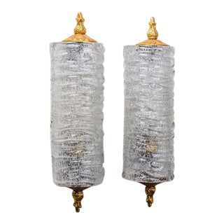 French Glass Sconces in the manner of Barovier & Toso, circa 1950s