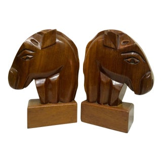 Art Deco Horse Head Bookends