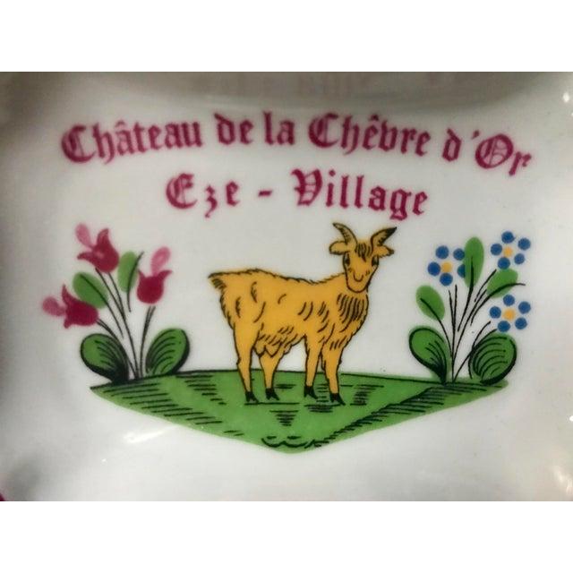 Vintage Chateau De La Chèvre d'Or Eze Village French Limoges Trinket Soap Dish For Sale In Saint Louis - Image 6 of 8