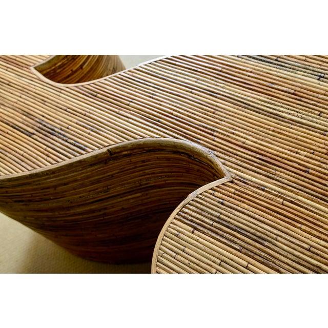 "Italian Gabriella Crespi Style, Pencil Bamboo ""S"" Shape Console Table,, C.1970 For Sale - Image 12 of 13"