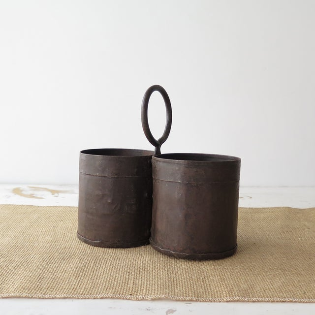 Rustic Metal Wine Bottle Caddy - Image 3 of 4