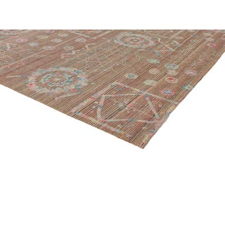 Boho Chic Vintage Embroidered Suzani Kilim Rug in Soft Pastel Colors - 9′3″ × 12′5″ Preview