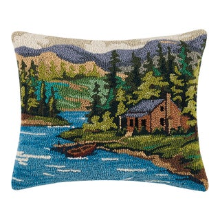 """Cabin by Lake Hook Pillow, 16"""" x 20"""" For Sale"""