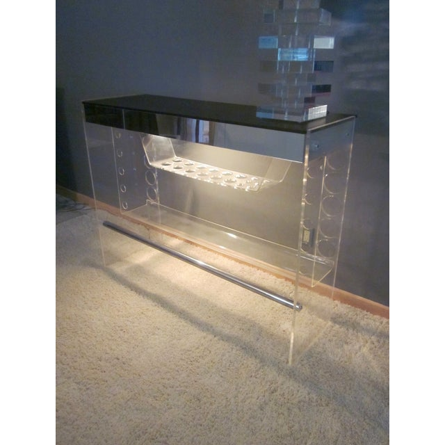 Lucite Hollywood Regency Lighted Bar Table - Image 8 of 8