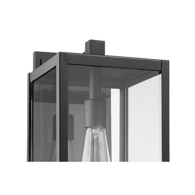 Clean and Modern inspiration is the theme in this exterior front porch lantern. Simply shaped and crafted for wet or dry...