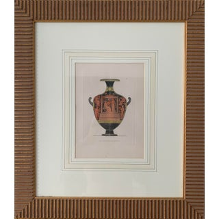 19th Century Antique Original Henry Moses Greek Urn Engraving Print For Sale