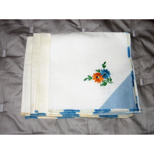 Vintage Cotton Napkins - Set of 4 For Sale - Image 5 of 5