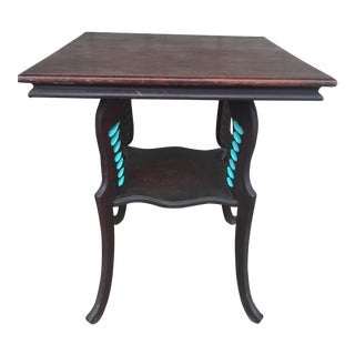 Antique Turquoise Accent Parlor Table