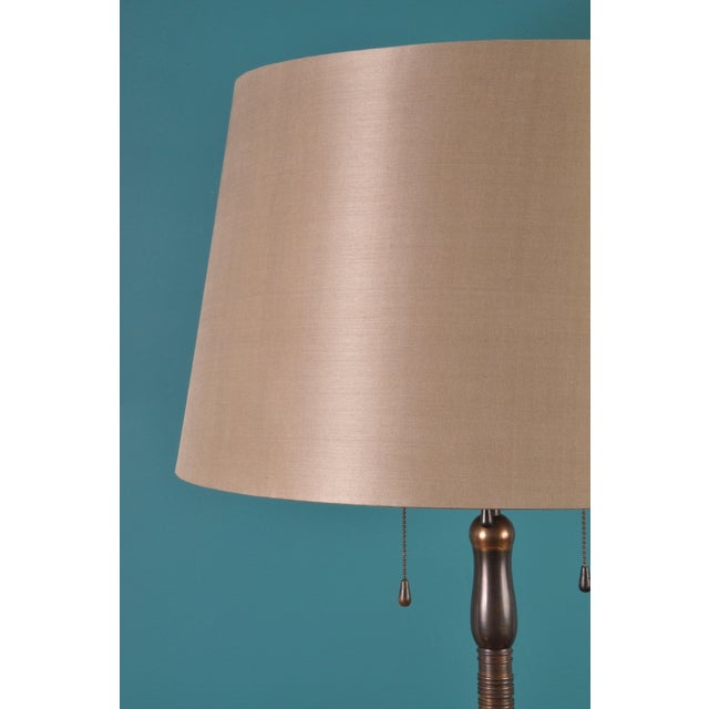 1940s Large Brass Floor Lamp, Bag Turgi, Zurich, Switzerland, Circa 1940s For Sale - Image 5 of 11