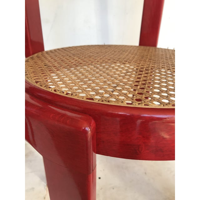 Vintage Italian Dining Chairs in the Manner of Scarpa For Sale - Image 6 of 12