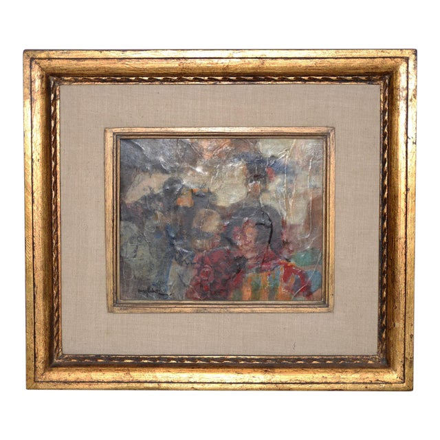Marsh Nelson (American, Mid 20th C.) Mixed Media Abstract Composition C.1967 For Sale