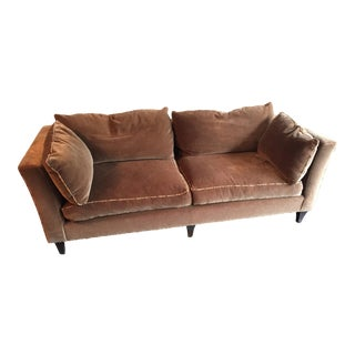 Baker Madison Taupe Mohair Sofa For Sale