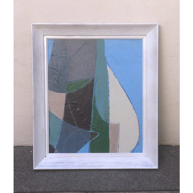 1960s Mid Century Abstract Painting For Sale - Image 5 of 5