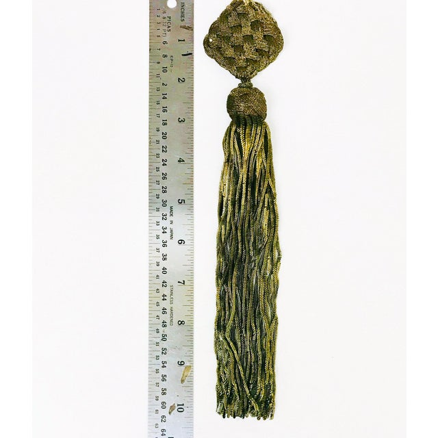 Gold Late 1800s Antique French Gold Metallic Bullion Tassel For Sale - Image 7 of 8