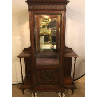 East Lake Victorian 19th Century Vitrine or Curio Cabinet / Bookcase Preview