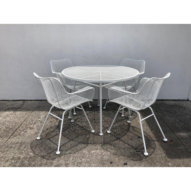 Woodard Sculptura Patio Dining Table and Chairs Set For Sale - Image 13 of 13