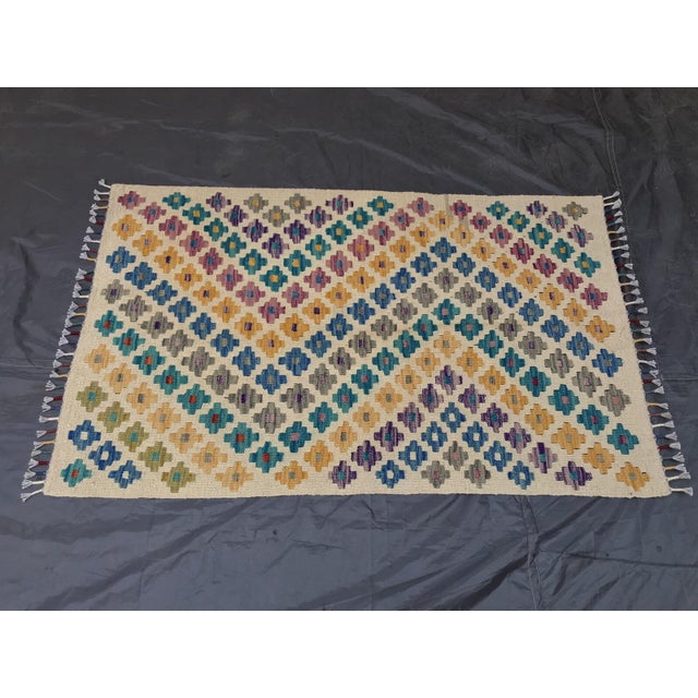 Islamic Turkish Handwoven Kilim Rug - 2′4″ × 3′9″ For Sale - Image 3 of 3