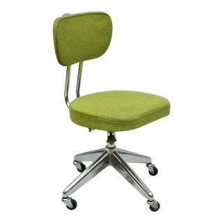 Mid Century Modern Atomic Era Green Swivel Adjustable Chair For Sale