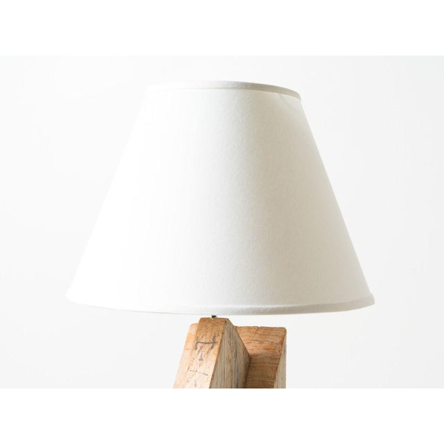 Timber Frame Lamp For Sale - Image 4 of 5