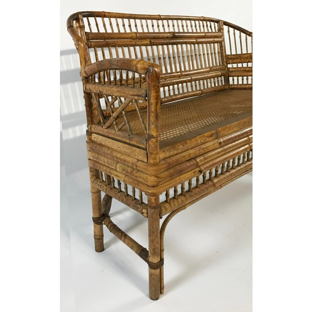 Brighton Pavillion Caned Settee For Sale In Kansas City - Image 6 of 11
