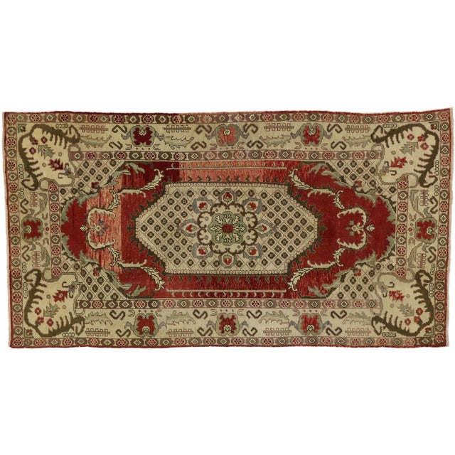 Vintage Turkish Oushak Gallery Rug - 04'09 X 09'00 For Sale In Dallas - Image 6 of 6