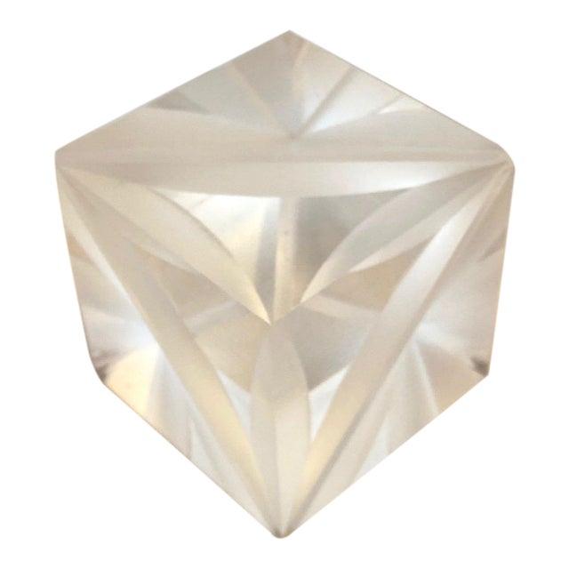 1970s Italian Alessio Tasca Lucite Cube For Sale