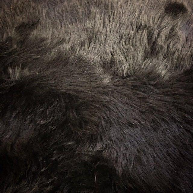 Black Sheepskin Rug - Image 3 of 4