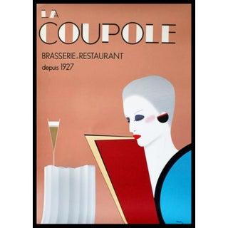 La Coupole Art Deco Restaurant Paris Poster From Razzia For Sale