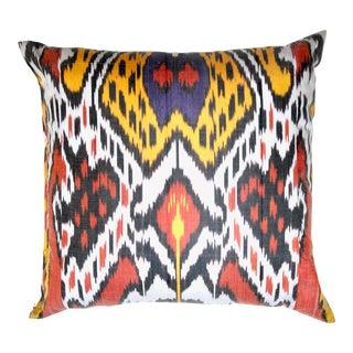 Uzbek Silk Ikat Pillow