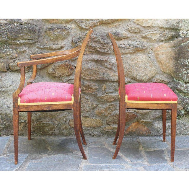 Wood Set of Six Continental Neoclassical Dining Chairs For Sale - Image 7 of 10
