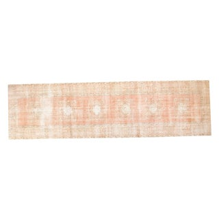 "Vintage Distressed Oushak Rug Runner - 3'1"" X 10'11"""