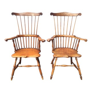 Antique American Windsor Chairs - a Pair For Sale