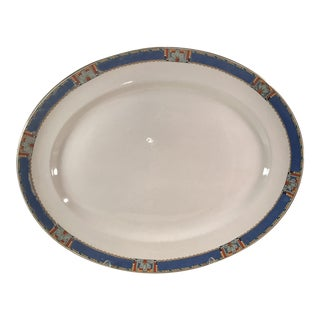 Vintage Art Deco Large Serving Platter For Sale