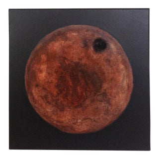 "Contemporary ""Walnut Moon"" Original Brown and Black Painting"