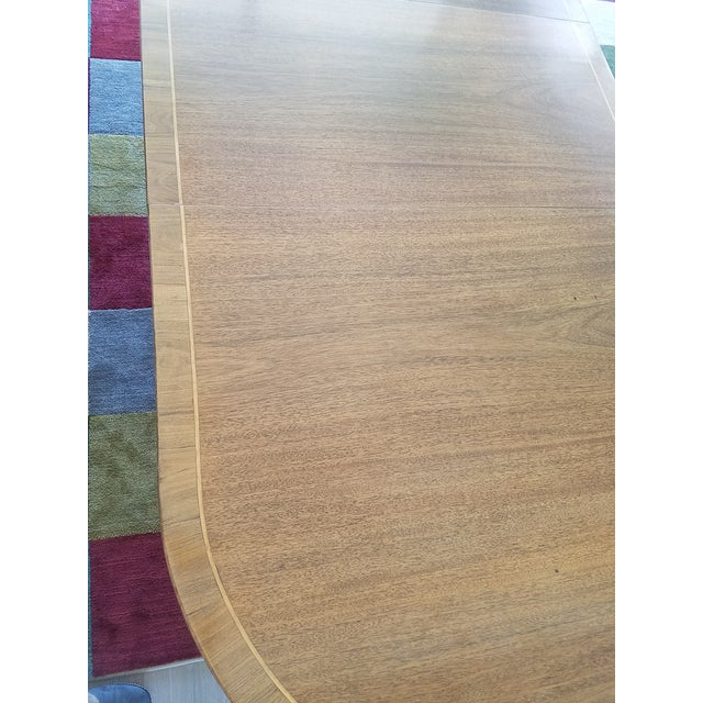 Blond Mahogany Expandable Dining Table For Sale In Boston - Image 6 of 8