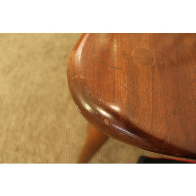 Contemporary Duckloe Bros Cherry Hoop-Back Windsor Side Dining Chair For Sale - Image 9 of 11