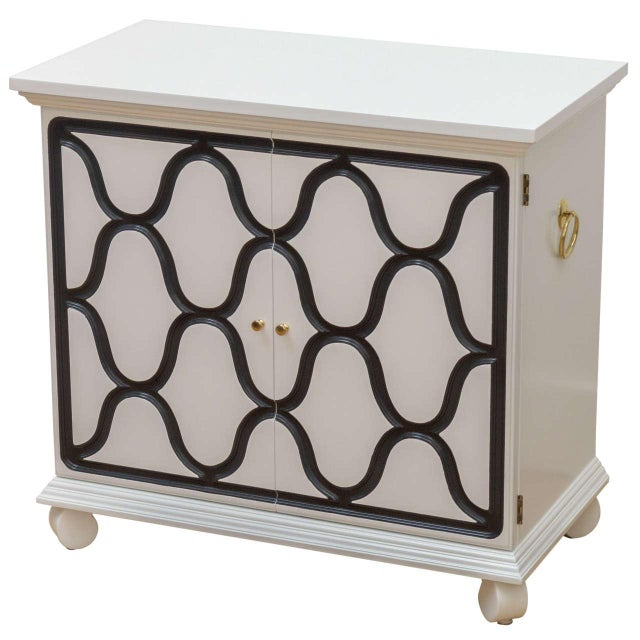 White Dorothy Draper Two-Door Cabinet For Sale - Image 8 of 8