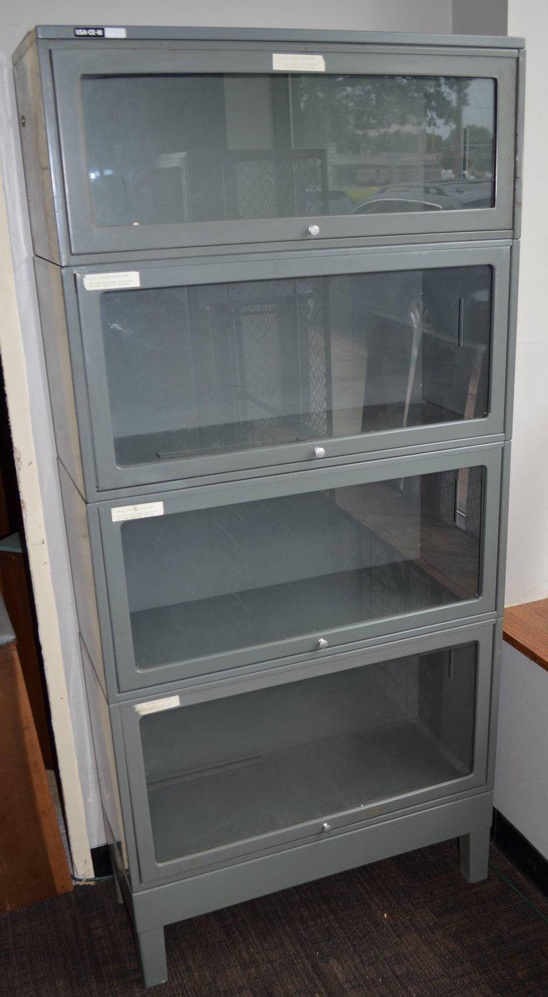 Steel Barrister Bookcase: Storage File Cabinet From Lawyer's Barrister Bookcase Of