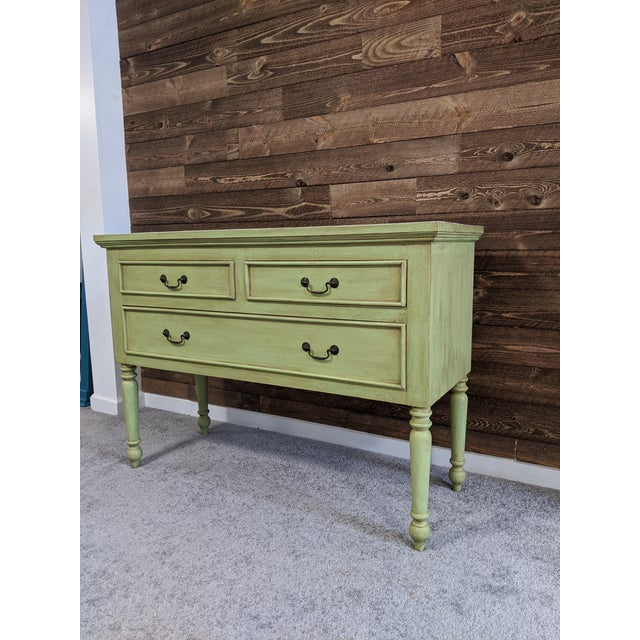 Green 1950s Mid Century Green Chest With Drawers For Sale - Image 8 of 13