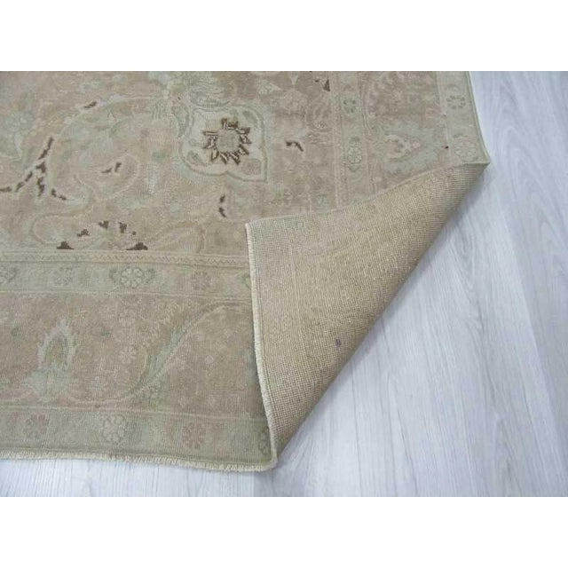 Persian Washed Out Tabriz Rug- 9′1″ × 12′6″ - Image 6 of 6