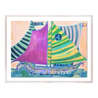 SB Staniel Cay by Lulu DK in White Wash Framed Paper - Medium Art Print For Sale