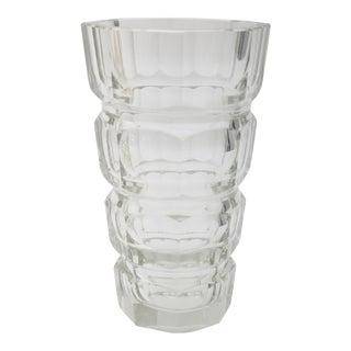 Moser Glass Optic Vase