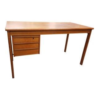 Vintage Danish Modern Peter Lovig Nielson by Jens Quistgaard Teak Writing Desk For Sale
