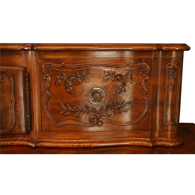 Vintage French Country Walnut Sideboard For Sale In Columbia, SC - Image 6 of 8
