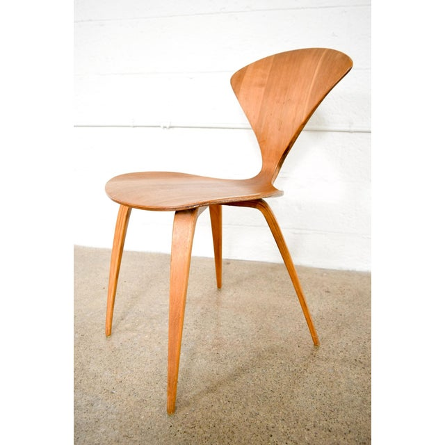 Brown Mid Century Norman Cherner Molded Plywood Side Chair For Sale - Image 8 of 11