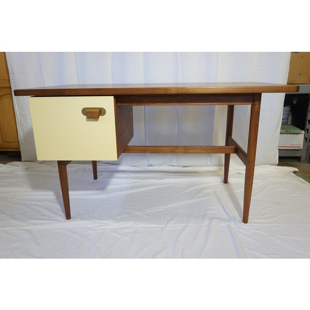 1950s 1950s Danish Modern Jens Risom Design Inc Writing Desk For Sale - Image 5 of 13