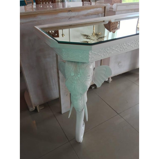 Gampel-Stoll White Elephant Console Table - Image 4 of 12