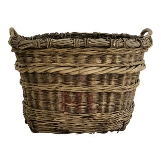 Antique French Champagne Harvest Basket