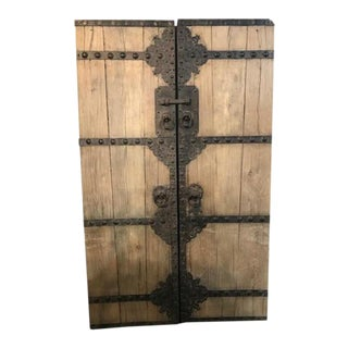 Antique Chinese Elm Garden Gate For Sale