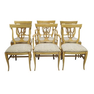 Sheraton Style Dining Chairs - Set of 6 For Sale